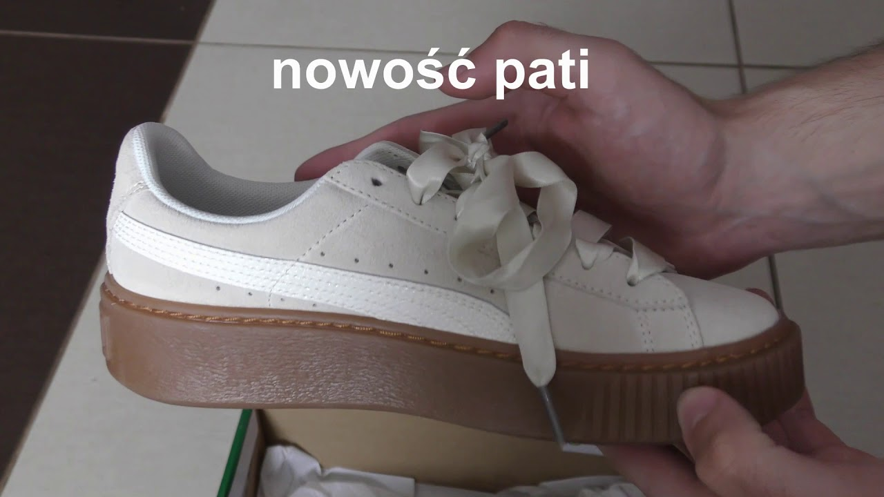 watch 5660d e4539 Damskie Buty PUMA Suede Platform Bubble Wn's Marshmallow Rihanna edition  unboxing first look pokaz