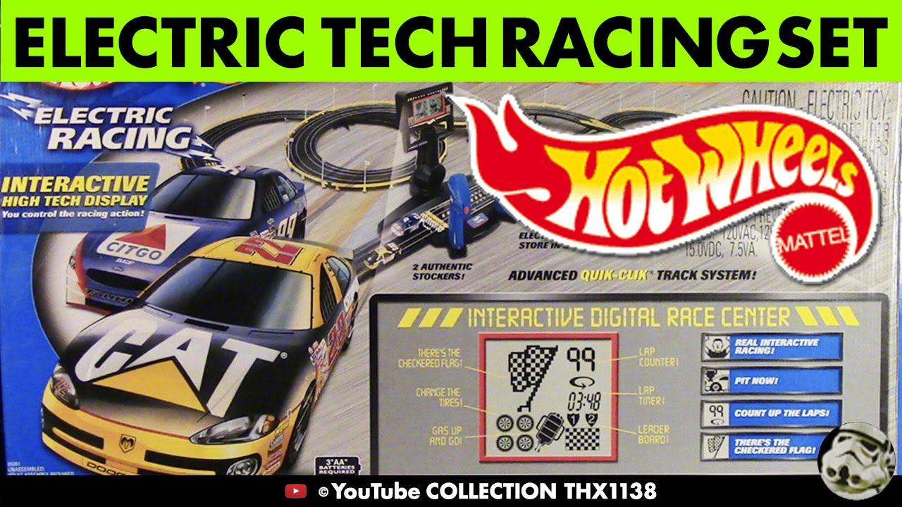 Nascar Hot Wheels Interactive Race Center Ho Slot Car Track Cars Tools Collection Thx1138
