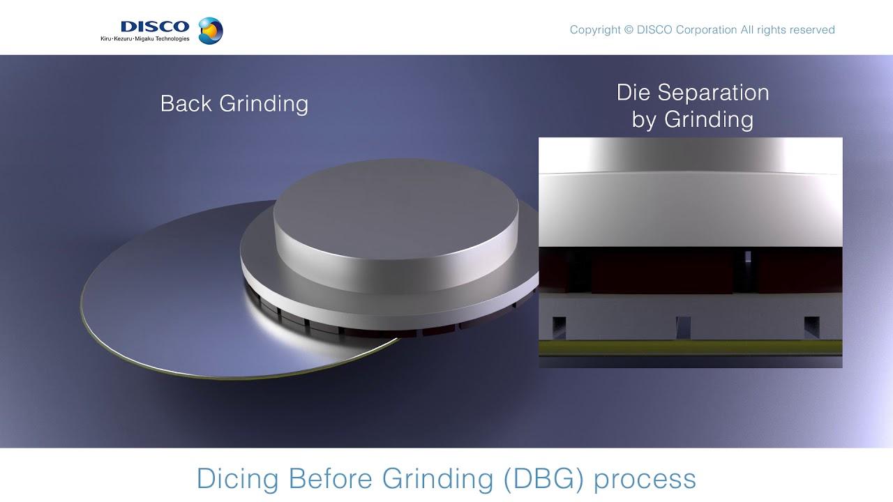 DBG, plasma etching, wafer planarization - dicing-grinding