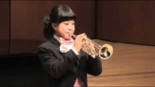 Neruda Trumpet Concerto in Eb 3rd mov - Korean girl trumpeter (Go-eun Park, 13 years old)