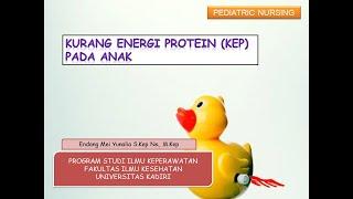 Epidemiologi Gizi - Kekurangan Energi Protein.
