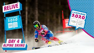RELIVE - Alpine Skiing - Giant Slalom Run 2 - Day 4 | Lausanne 2020