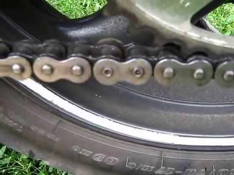 Как заклепать цепь на мотоцикле