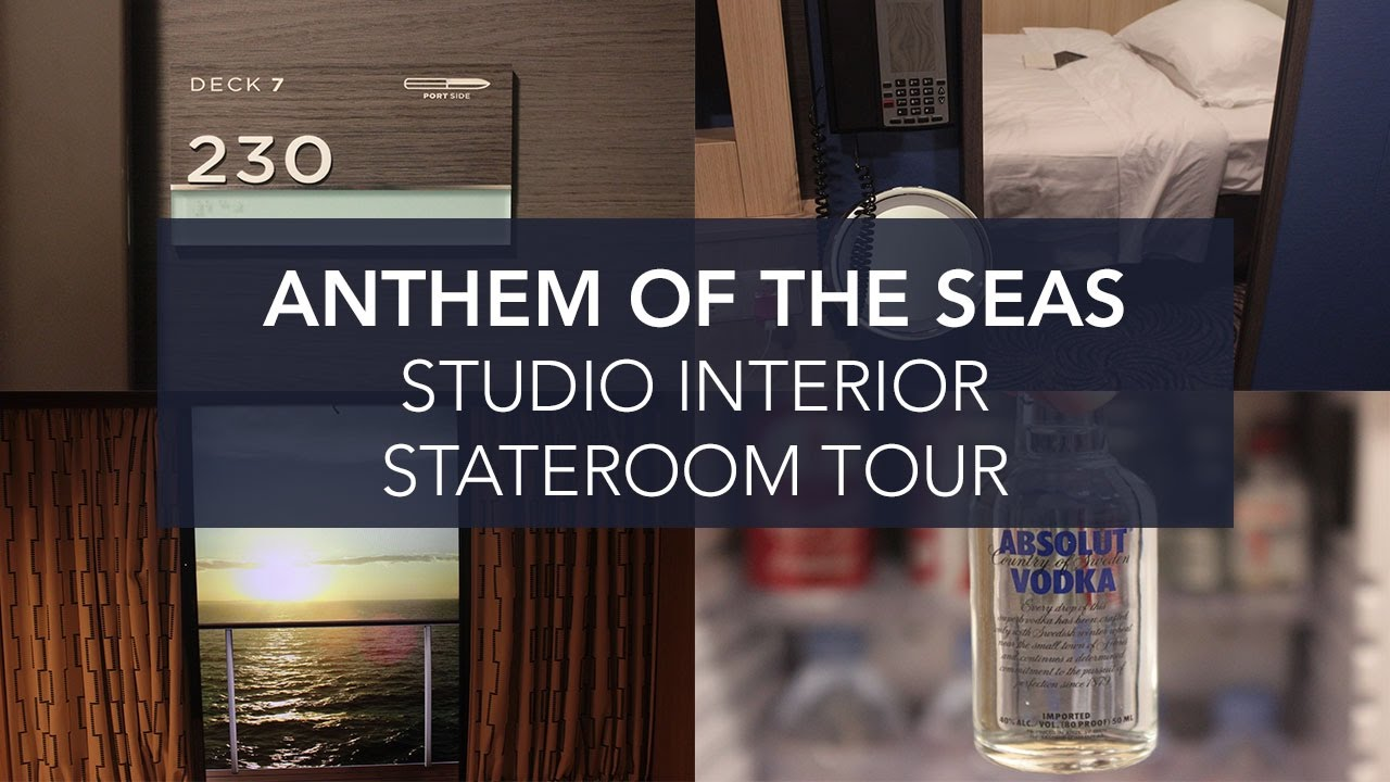 Anthem of the seas studio stateroom tour youtube for Anthem of the seas inside cabins