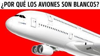 Por qué los aviones son casi siempre blancos