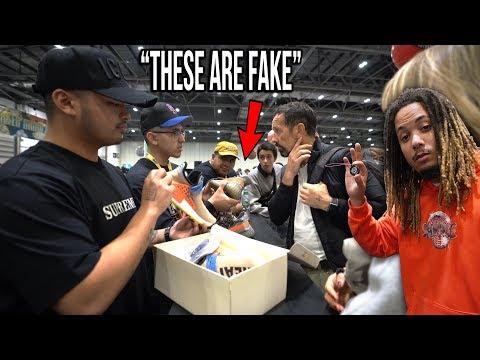 WE CAUGHT FAKES IN SNEAKERCON LONDON USING THE SNEAKERCON APP !!!