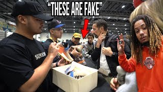 WE CAUGHT FAKES IN SNEAKERCON LONDON USING THE SNEAKERCON APP !!!