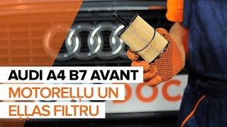 Kā un kad mainīt Eļļas filtrs AUDI A4 Avant (8ED, B7): video pamācības