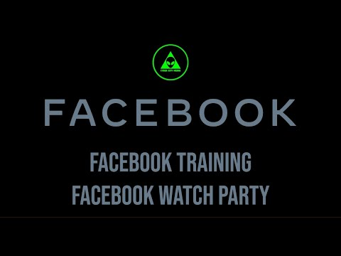 Facebook Training: Watch Party (Curating, Scheduling, & Publishing)