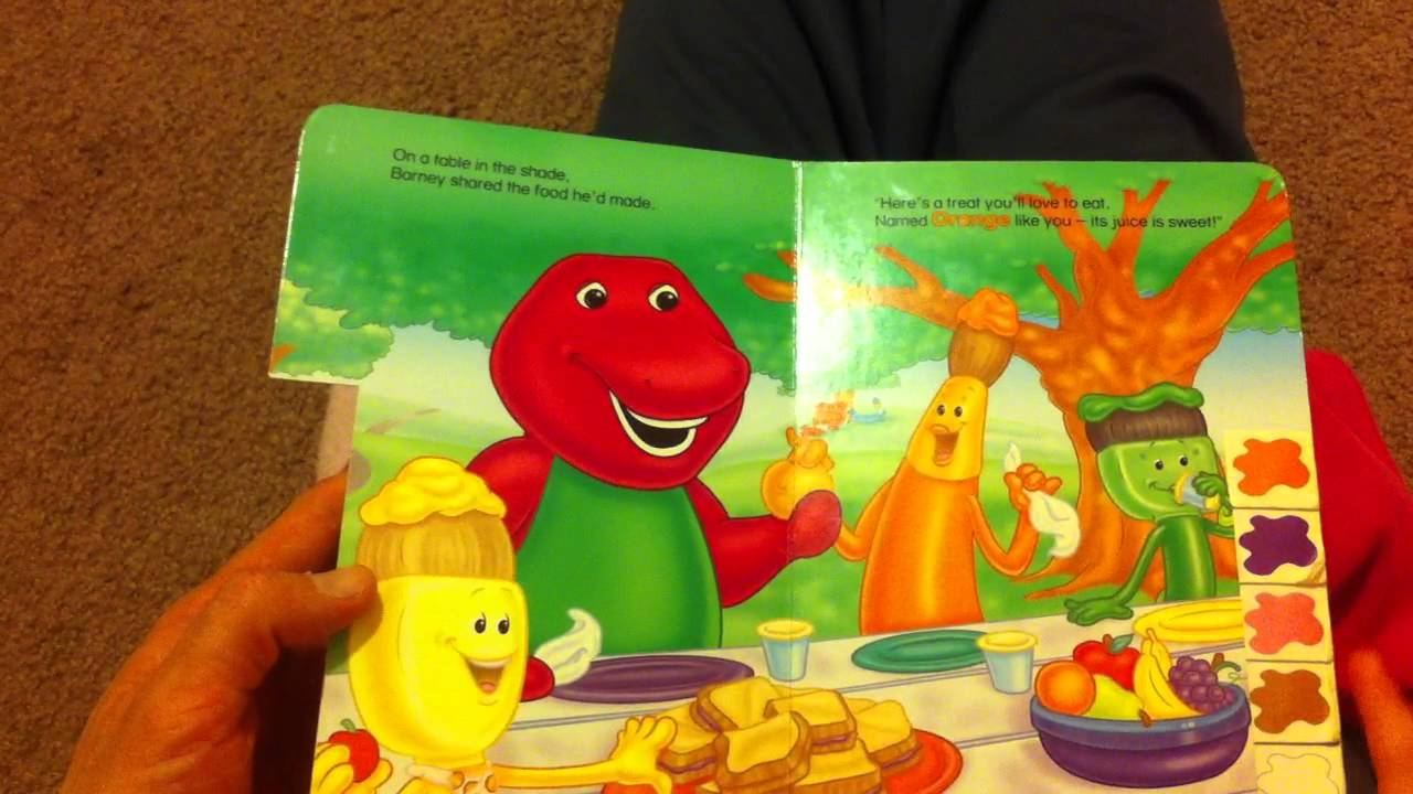 Me reading Barney\'s Book of Colors - YouTube