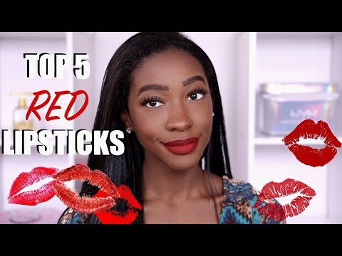 Top 5 RED Lipsticks!!!