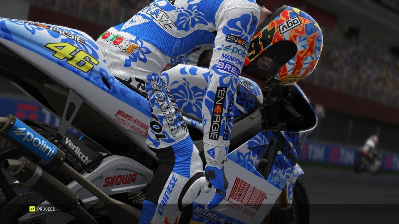 MotoGP | VALENTINO ROSSI | livery 2001 | MUGELLO 500cc WET | (VRTG) - YouTube
