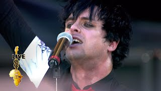 Green Day performing at Live 8 in Berlin at Siegessäule on the 2nd July, 2005. Organised by Sir Bob and The Band Aid Trust to raise money to fight poverty ...
