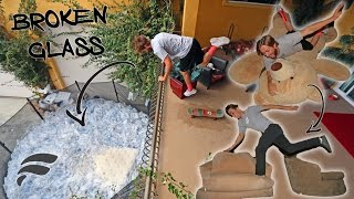 Repeat youtube video HOMEMADE OBSTACLE COURSE TO TRAMPOLINE (GONE WRONG)