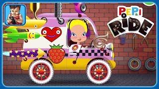 Весёлые гонки для детей Pepi Ride * Строим машинки и катаемся по острову Пепи * iOS | Android