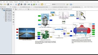 Solar Linear Fresnel Collector | Flashing for Nanofiltration & DVG Desalination | Matlab | Simulink
