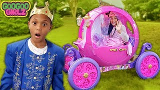 Oh No We Are Late To The Princess Party! (Goo Goo Girlz Video for Kids)