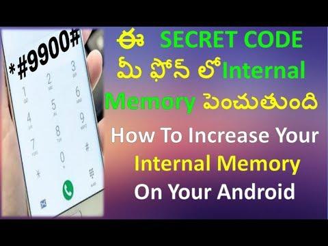 How To Increase Internal Memory On Your Android Phone I Secret Code Revealed I Telugu I 2017
