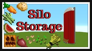 Minecraft Tutorial : New Silo Storage System (2018)