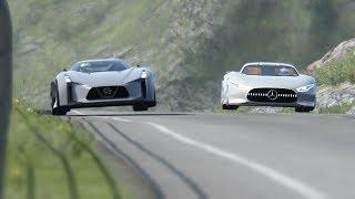 Mercedes-Benz Vision GT vs Nissan Concept 2020 Vision GT at Highlands
