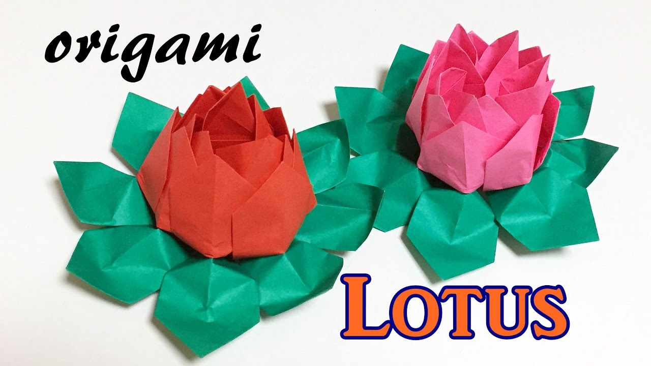 Origami Lotus Flower Tutorial How To Make A Paper Lotus Water