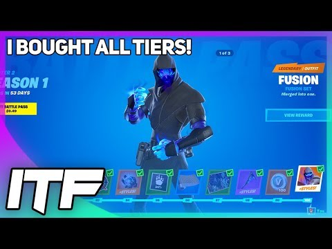 BOUGHT ALL TIERS! Fortnite Chapter 2 S1 Battle Pass Overview! (Fortnite Battle Royale)