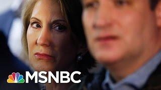 Carly Fiorina Falls; Ted Cruz Doesn