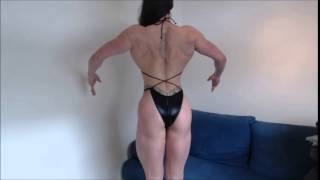 Download lagu Maria Wattel Amazon woman 6 1 flexing and posing muscles to check her form MP3