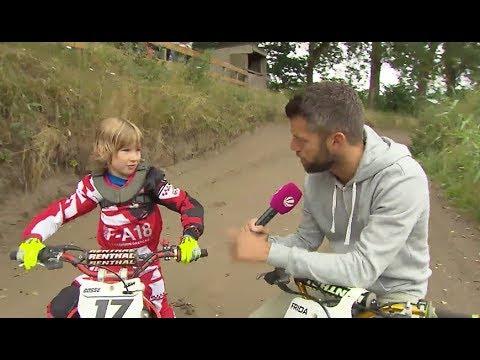 Der Landreporter trainiert mit den jungen Talenten auf der Motocross Übungsanlage Lehmbeck
