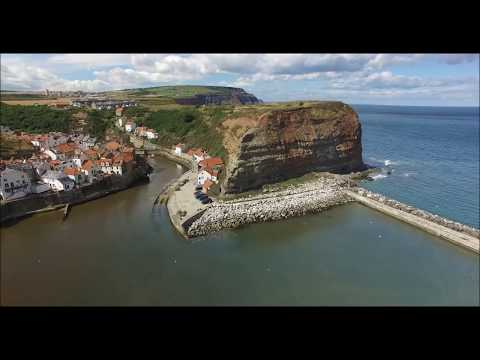 Staithes, North Yorkshire ...... a birds eye view in 4k
