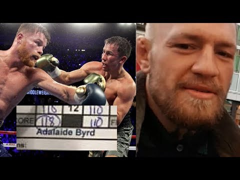 McGregor & Others React to Canelo Vs. GGG Controversy
