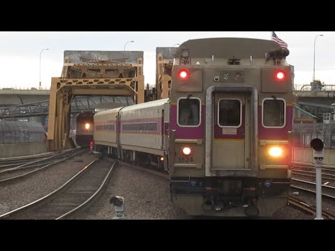 Amtrak And MBTA trains at Boston North Station | Wrap cars, Meets and more!