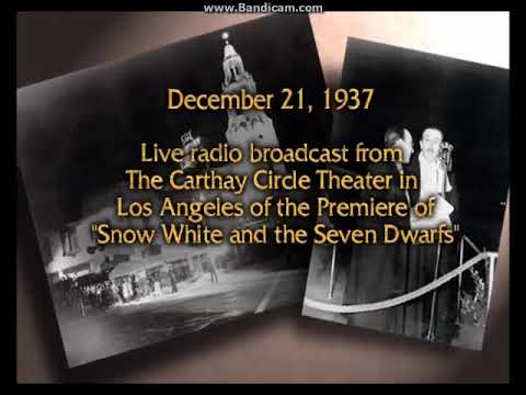 Disney's Snow White And The Seven Dwarfs, Original Premiere Radio Broadcast (Audio Only)