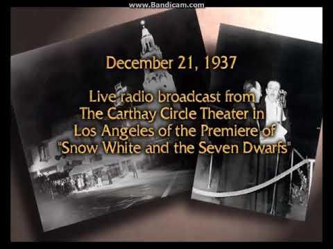 Disney's Snow White And The Seven Dwarfs, Original Premiere Radio Broadcast  (Audio Only)