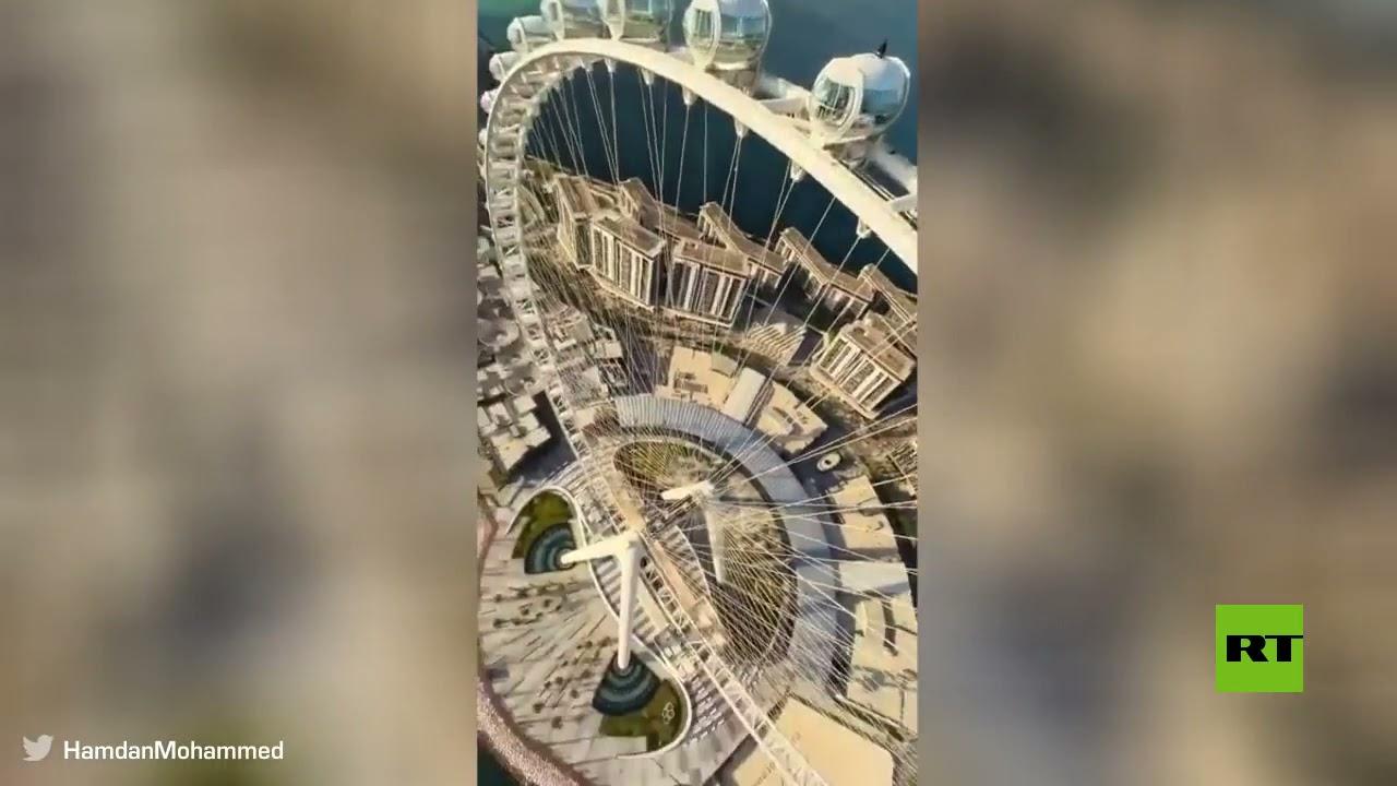 عجلة -عين دبي- تفتتح أبوابها.. والشيخ حمدان ينشر فيديو مذهلا من علو أكثر من 250 مترا  - نشر قبل 3 ساعة
