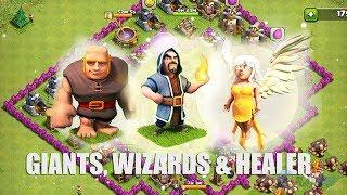 Teknik Menyerang Menggunakan Strategi Giwihe (Giant Wizards Healer) Th7 / Th8