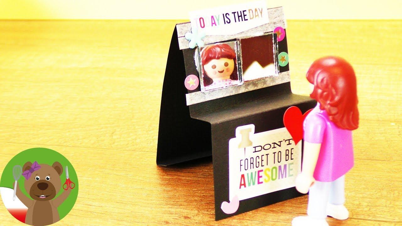 DIY Playmobil | lusterko do makijażu | wystrój garderoby | urządzanie willi Playmobil