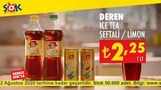 Sofralarınıza eşlik edecek nefis meyve lezzetli Deren Ice Tea Şeftali ve Limon #ŞOKUcuz!