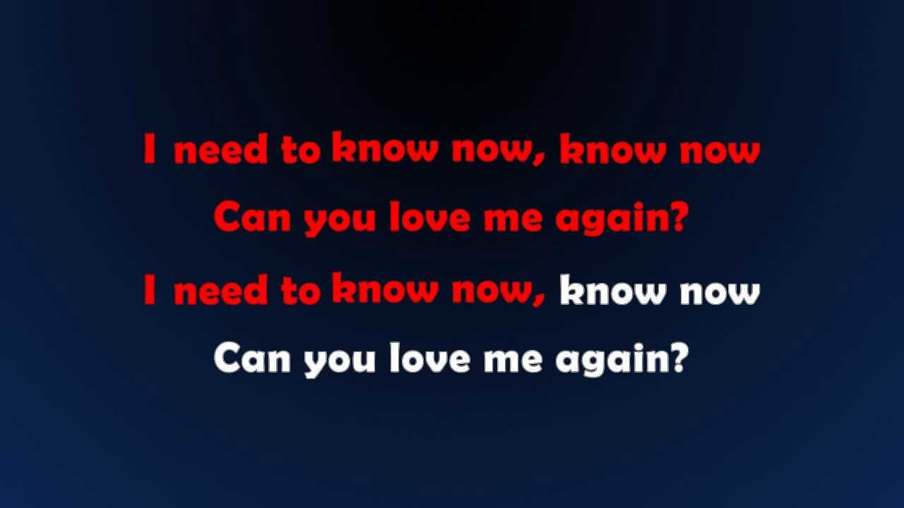 Again Know Need I Love To You Me Can If