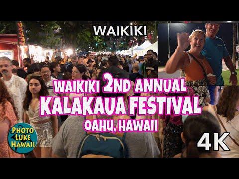 Waikiki 2nd Annual Kalakaua Festival Oahu Hawaii