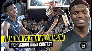 Hamidou Diallo vs Zion Williamson INSANE High School Dunk Contest!! 2020 NBA Contest Preview? Video