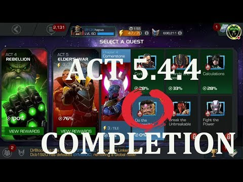 act 5.4.4 completion (modok boss) marvel contest of champion