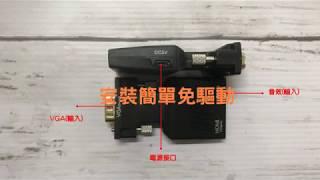 【樺仔3C】換HDMI新螢幕結果電腦不能用!? VGA轉HDMI 轉接頭 讓樺仔解救你!