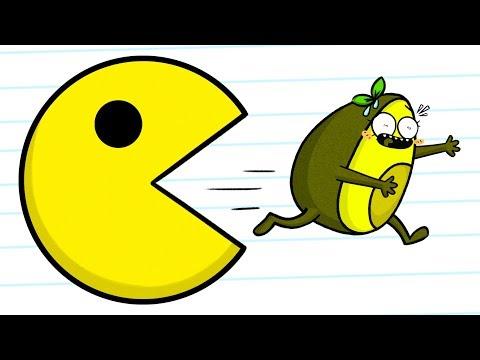 Pacman VS Vegetables - Cartoons