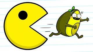 Pacman VS Vegetables - Cartoons thumbnail