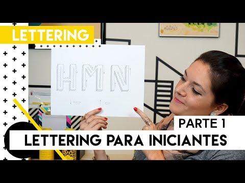 Lettering para iniciantes - Parte 1 | by Aline Albino