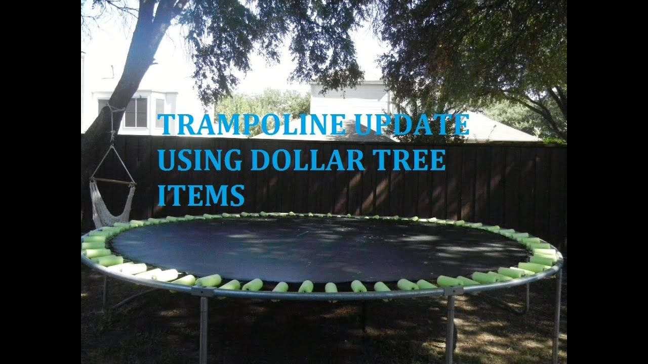 Diy Trampoline Spring Cover Using Dollar Tree Noodles
