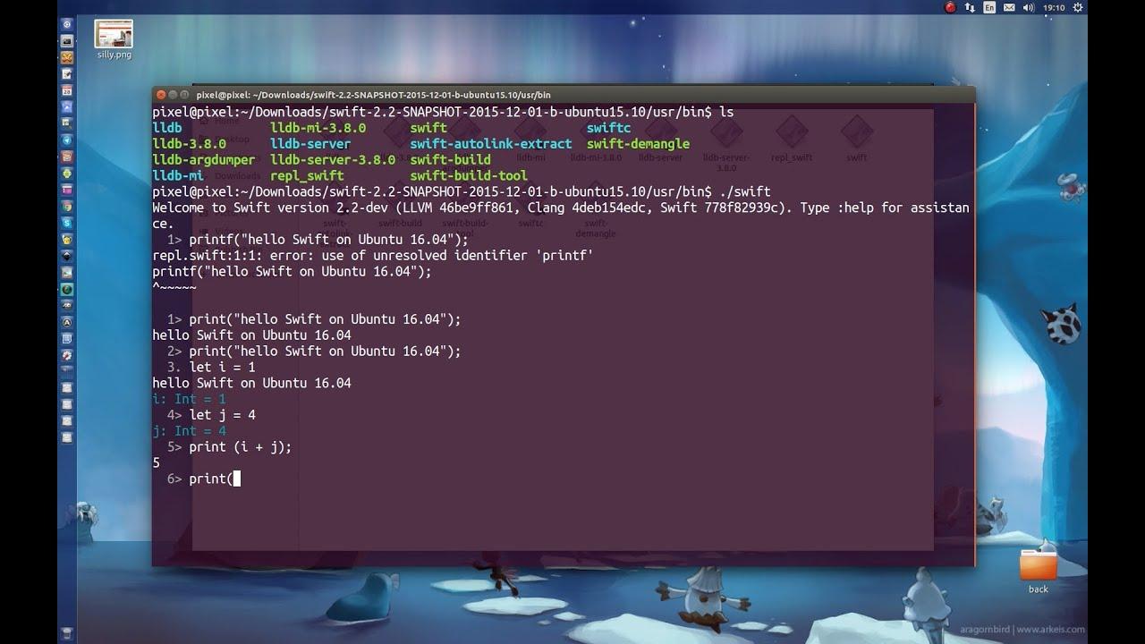 Swift on Ubuntu 16 04 Linux