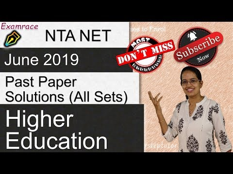 higher-education:-most-important-questions-from-nta-net-paper-1-june-2019-(past-paper-solutions)