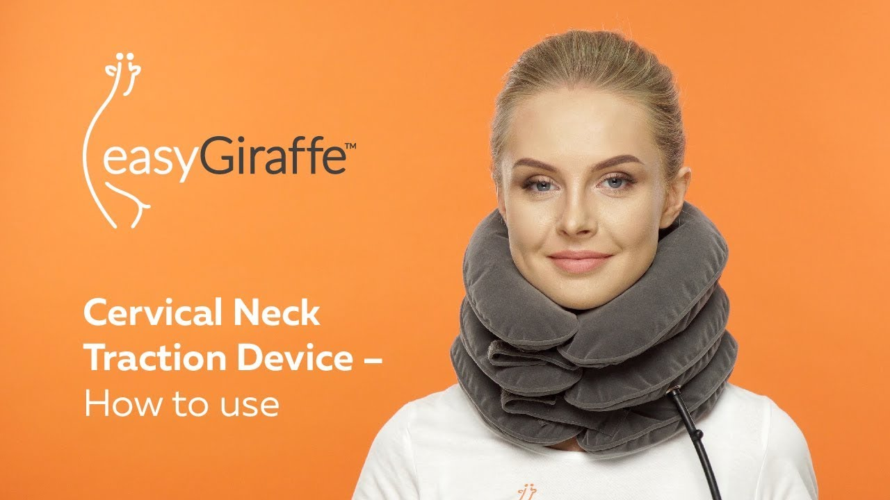 How To Use Cervical Neck Traction For Quick Neck Pain Relief Easygiraffe C Youtube